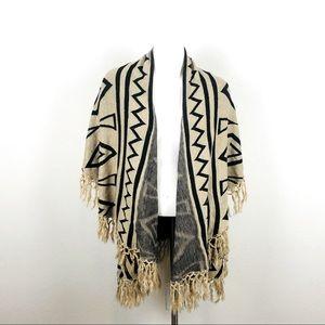 Do Everything in Love Beige Aztec Vest Shawl